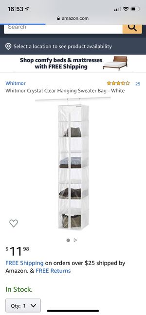 Hanging Shelf - Closet Organizer for Sale in Los Angeles, CA