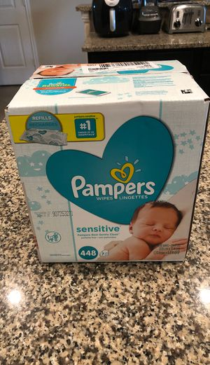 Pampers sensitive wipes 448 count for Sale in Cypress, TX