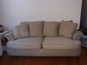 Sofa. Large. Good condition. NO delivery. AD IS UP ITS AVAILABLE for Sale in Columbus, OH