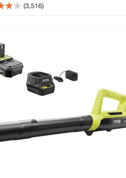 RYOBI 90 MPH 200 CFM ONE+ 18-Volt Lithium-Ion Cordless Leaf Blower/Sweeper - 2.0 Ah Battery and Charger Included for Sale in Sloan,  NV
