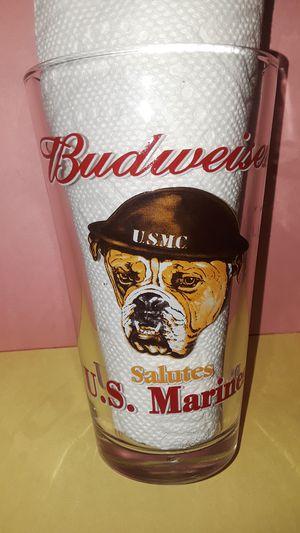 Budweiser US MARINE's Bulldog collectible glass for Sale in Brandon, FL