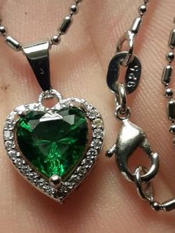 925 Sterling silver Necklace And Heart Pendant for Sale in New Port Richey,  FL