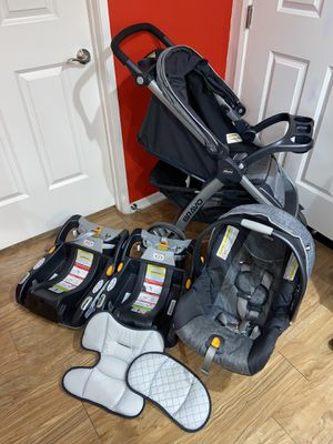 Chicco Bravo Travel System and Extra Base for Sale in Huntington Beach, CA
