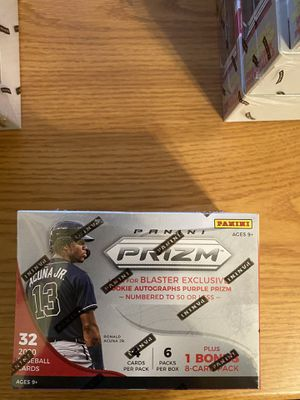 baseball 2020 panini prizm blaster Rookie autograph purple prize number to 50 or less for Sale in Fresno, CA