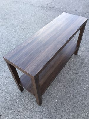NEW console table, walnut and espresso brown available for Sale in Las Vegas, NV