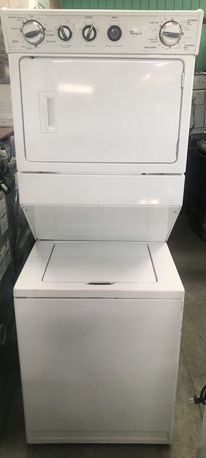WHIRLPOOL LAUNDRY CENTER! STACKABLE WASHER AND GAS DRYER - for Sale in Montclair, CA
