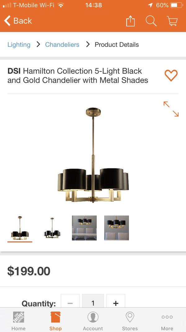 5 lights chandeliers