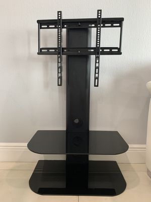 Wall-mounted TV shelf with 2 tempered glass shelves. for Sale in Hialeah, FL
