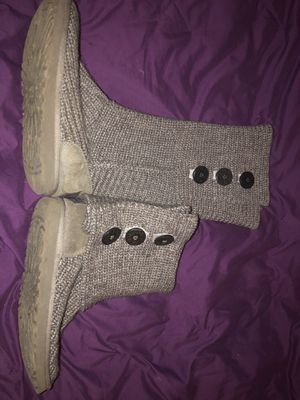 Ugg Boots - Size 7 grey sweater for Sale in Seattle, WA