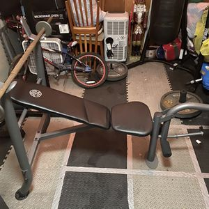 Golds Gym Bench Press And Weights for Sale in Damascus, OR