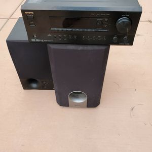 Onkyo Receiver With Speakers for Sale in Jamul, CA