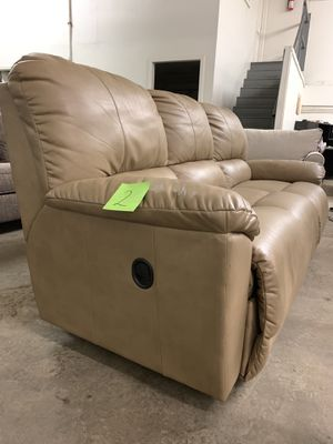 La-Z-Boy Trouper Reclining Sofa Couch Butterscotch for Sale in Columbus, OH