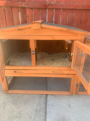 Guinea pig cage / rabbit hutch for Sale in Riverside, CA