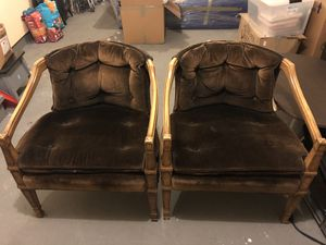 FREE velvet chairs for Sale in Bowie, MD