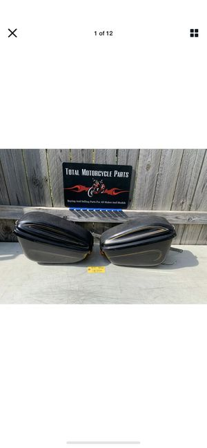 Vintage Honda CB350 Motorcycle Saddle Bag Luggage With Lights Pair for Sale in Arlington Heights, IL