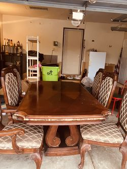 "Large dining room set(6chairs) 83""x45""x30""H for Sale in Sterling Heights,  MI"