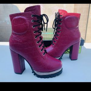 Brand New! Cape Robbin Rhinestone red boots for Sale in Orange, CA