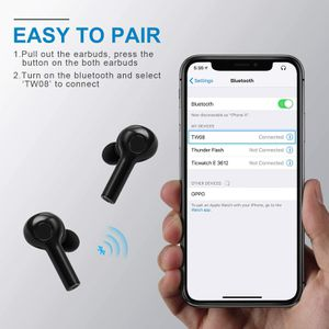 Hexdeer Wireless Earbuds – Bluetooth Headphones with Charging Pad – Bluetooth V5 in-Ear Running Headphones – Sweatproof Ear Pods with Case for Sale in Ontario, CA