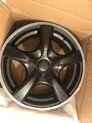 "4 Rims ""Black matte"" 16""/7.. bolt pattern 5x112 for Sale in Providence, RI"