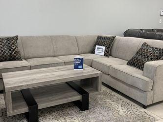 Light Grey Sleeper Sectional W/ Gel Foam Mattress for Sale in North Richland Hills,  TX