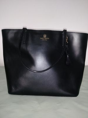 Authentic Kate Spade Black Leather Tote Bag for Sale in Baltimore, MD