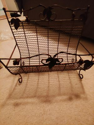 Iron brass magazine rack for Sale in Puyallup, WA