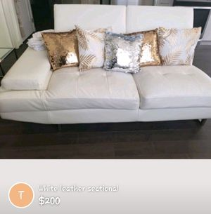 White leather sectional $200 for Sale in Washington, DC