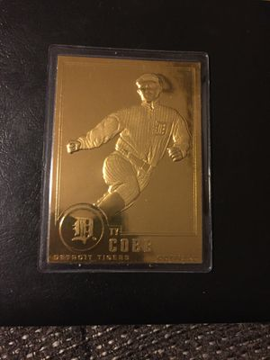 Ty Cobb 22kt Gold Baseball card for Sale in Sterling Heights, MI