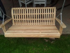 Hand-Crafted Custom Designed Wood Porch Swing for Sale in San Diego, CA