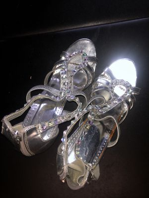 Silver diamond heels for Sale in Jacksonville, FL
