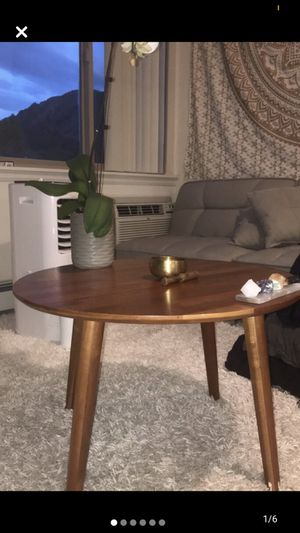 Hardwood Round Coffee Table for Sale in Boulder, CO