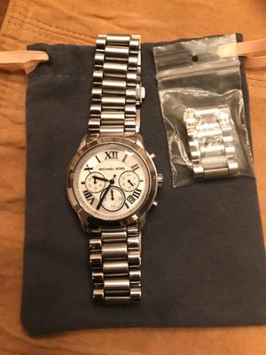 Michael Kors stainless steel bracelet watch. With additional links for Sale in Bethesda, MD