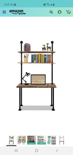 Industrial Desk w/ 2 Shelves for Sale in Lake Forest Park,  WA