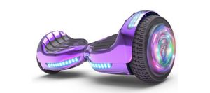 """Flash Wheel Certified Hoverboard 6.5"""" Bluetooth Speaker with LED Light Self Balancing Wheel Electric Scooter - Chrome purple for Sale in Tamarac, FL"""