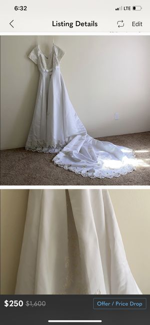 Oleg Cassini Plus Sized Bridal Dress Size 14 for Sale in Beaverton, OR