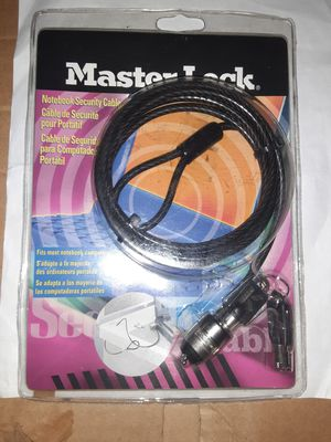 Master Lock notebook cable lock for Sale in Waldorf, MD