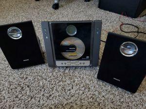 Philips Micro Hi-Fi CD Player AM FM Radio Stereo System MC235B Detachable Speakers YS for Sale in Tempe, AZ