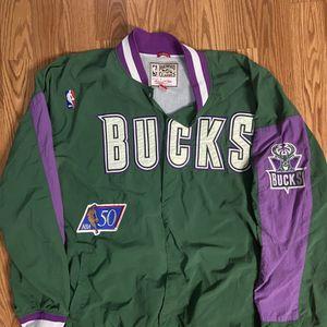 Milwaukee Bucks Mitchell & Ness Purple/Green Mesh Jacket for Sale in Los Angeles, CA