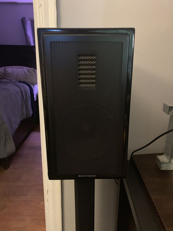 Martin & Logan Motion 35 speakers and stands piano black