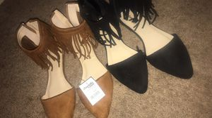 Charlotte Russe fringe flats size 7 for Sale in Columbus, OH