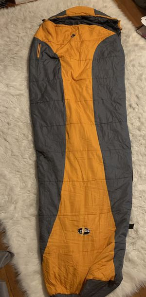 Orange grey sleeping bag ledge sport 84 inches 20 degrees men's camping for Sale in Portland, OR