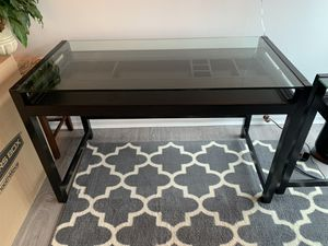 Office desk with glass top (espresso brown) for Sale in Chicago, IL