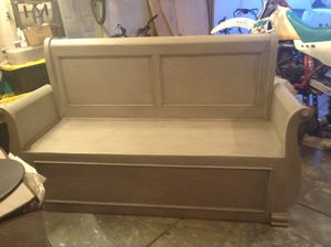 Large Gray Bench for Sale in Richland, WA