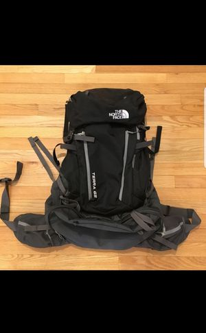 North Face Terra 65 Hiking Backpack - Black/Grey for Sale in Denver, CO