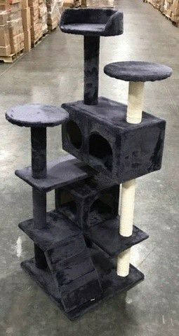 "Brand new in box 52"" tall cat tree house scratcher post cat tower condo scratching posts for Sale in Whittier, CA"