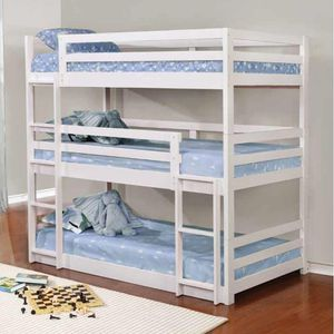 Triple bunk bed with mattresses included for Sale in Las Vegas, NV