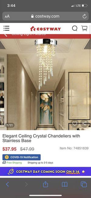 Ceiling crystal chandelier for Sale in La Palma, CA