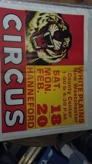 Circus poster for Sale in Newtown, CT