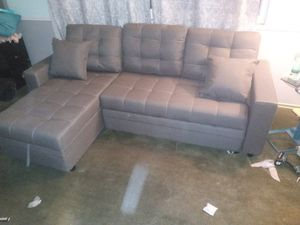 2pcs Sectional Sofa w/ storage chaise & pullout bed for Sale in Riverside, CA