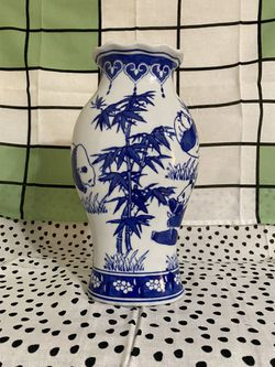 "Blue Vase Panda Bamboo 9.5"" H for Sale in Huntington Beach,  CA"